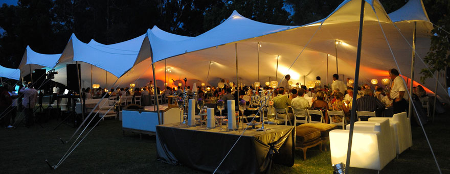 Bedouin Stretch Tent Marquee hire Durban